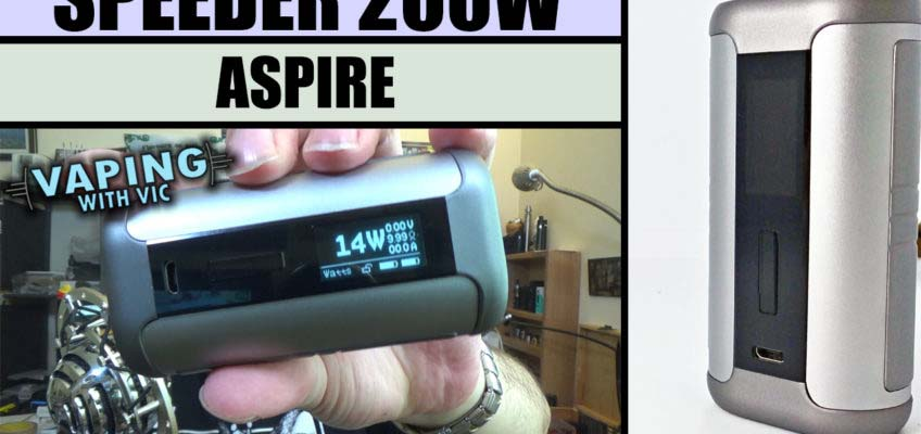 Aspire Speeder Mod Review – Aspires best mod to date….