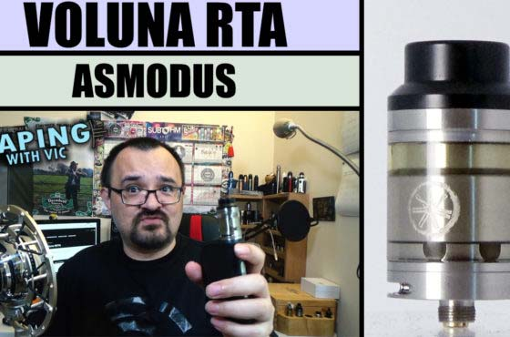 Asmodus Voluna RTA Review – VERY good flavour, but with a niggling issue