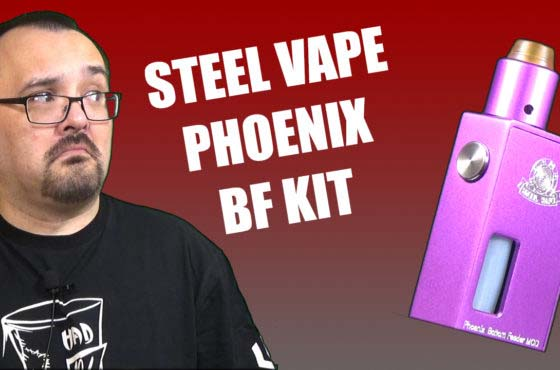 Steel Vape Phoenix BF Kit Review – A simple mech squonking kit
