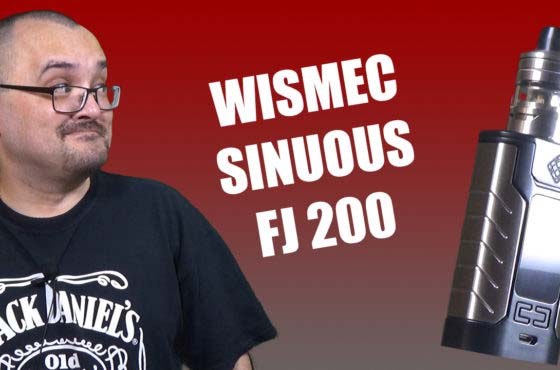 Wismec Sinuous FJ 200 Review – A kit for folks who like built in batteries