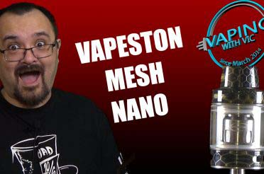 Vapeston Avatar Mesh Tank Nano Review – Vapestons new tank is meshy