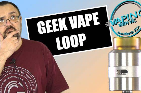 Geek Vape Loop RDA Review – …very weird deck, but it works…