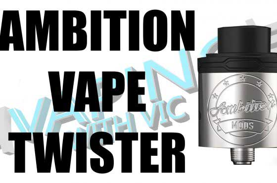 Ambition Vape Twister RDA Review – …interesting airflow…