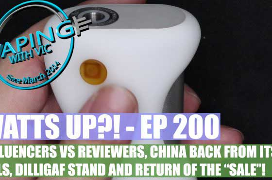 "Watts UP?! – Ep 200 – Influencer Vs Reviewer and the return of the ""Sales"""