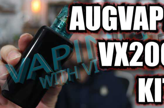 AugVape VX200 and Jewel Tank Review – A box mod kit, with a disposable tank?