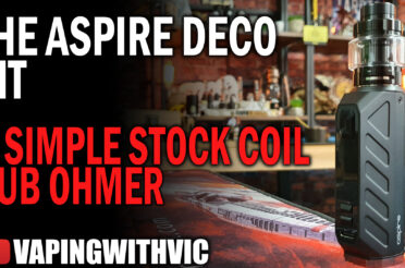 Aspire Deco Kit – Aspire heads back to the simple sub-ohm kit