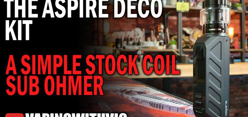 Aspire Deco Kit – Aspire heads back to the simple sub-ohm kit