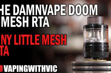 DamnVape Doom X Mesh RTA – These mesh tanks are getting REALLY small…